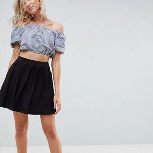 ASOS DESIGN Mini Skater Skirt in Black